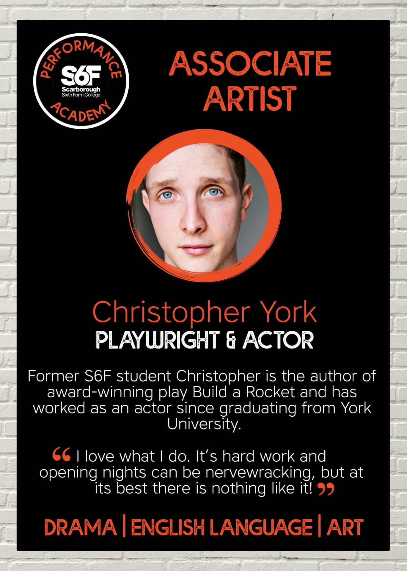 PA Associate Artist posters_Christopher York